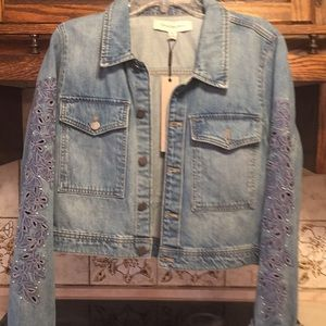 Calvin Klein Jeans jacket with blue embroidery NWT
